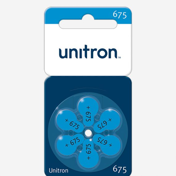 UNITRON baterijos <br>675 dydis