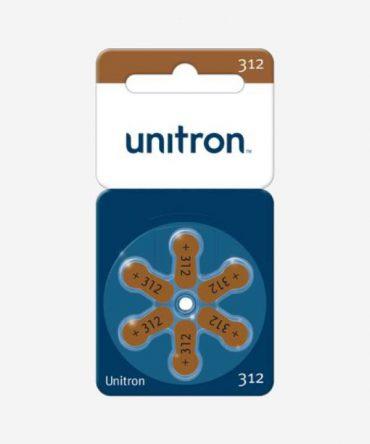 UNITRON baterijos <br>312 dydis